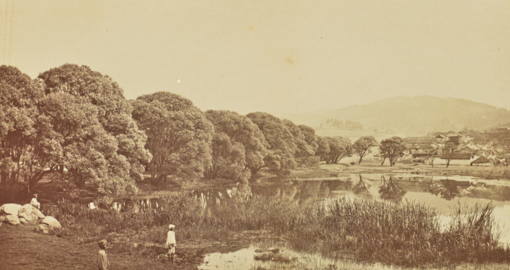 [Landscape with Lake]; Willoughby Wallace Hooper (English, 1837 - 1912); India; about 1870; Albumen silver print; 10.1 × 18.8 cm (4 × 7 3/8 in.); 84.XO.823.6.42; The J. Paul Getty Museum, Los Angeles; Rights Statement: No Copyright - United States