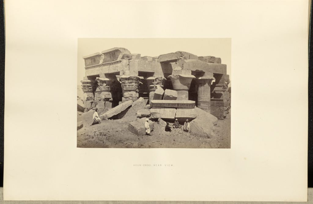Koum Ombo - Near View; Francis Frith (English, 1822 - 1898); 1857; Albumen silver print; 15.8 × 22.1 cm (6 1/4 × 8 11/16 in.); 84.XO.826.3.5; Rights Statement: No Copyright - United States