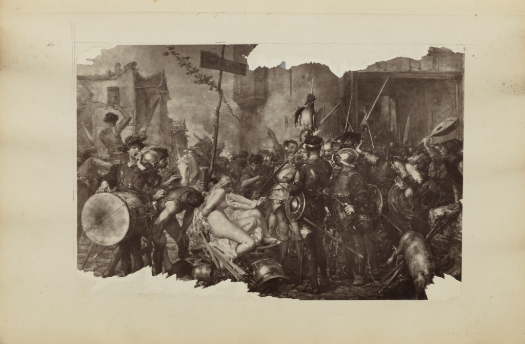 """[""""La part du capitaine"""" by Charles Edouard de Beaumont]; Unknown maker; Europe; 1870s; Carbon print; 16.5 × 25.3 cm (6 1/2 × 9 15/16 in.); 84.XA.828.6.7; The J. Paul Getty Museum, Los Angeles; Rights Statement: No Copyright - United States"""