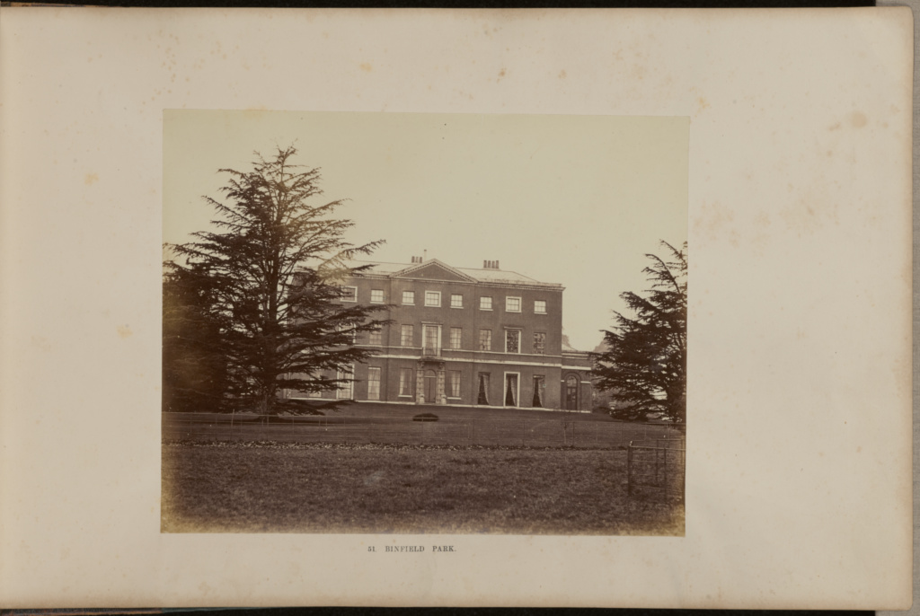 Binfield Park; Beard & Company; Twyford, England; about 1866; Albumen silver print; 19.3 × 20.9 cm (7 5/8 × 8 1/4 in.); 84.XO.872.5.8; The J. Paul Getty Museum, Los Angeles; Rights Statement: No Copyright - United States