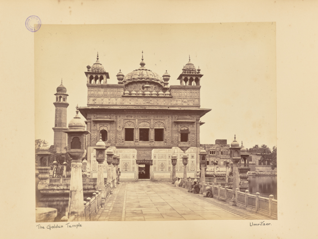 Samuel Bourne, photographer (English, 1834 - 1912), The Golden Temple.  Umritzar, English, about 1863–1864, Albumen silver print, 22.9 × 28.1 cm (9  × 11 1/16 ...