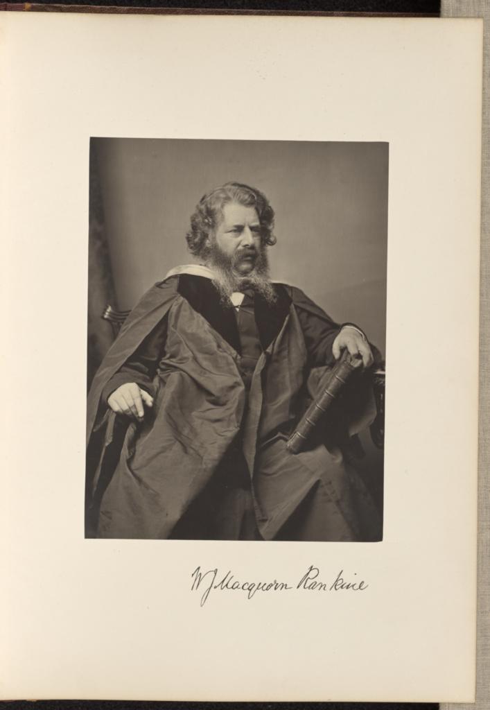 William John MacQuorn Rankine, C.E, LL.D, Professor of Civil Engineering and Mechanics; Thomas Annan (Scottish,1829 - 1887); Glasgow, Scotland; 1871; Carbon print; 21.4 × 15.9 cm (8 7/16 × 6 1/4 in.); 84.XO.890.5.24; The J. Paul Getty Museum, Los Angeles; Rights Statement: No Copyright - United States
