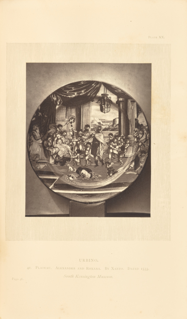 [Painted plate]; William Chaffers (English, 1811 - 1892); 1872; Woodburytype; 11.5 × 9.3 cm (4 1/2 × 3 11/16 in.); 84.XB.935.23.1.20; Rights Statement: No Copyright - United States