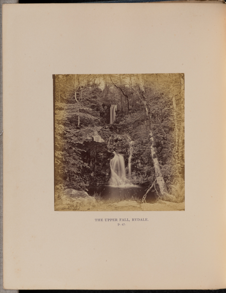 The Upper Fall, Rydale; Thomas Ogle (English, 1813 - about 1882); Rydal, Cumbria, Lake District, England; 1864; Albumen silver print; 9.2 × 8.8 cm (3 5/8 × 3 7/16 in.); 84.XB.935.22.5; The J. Paul Getty Museum, Los Angeles; Rights Statement: No Copyright - United States