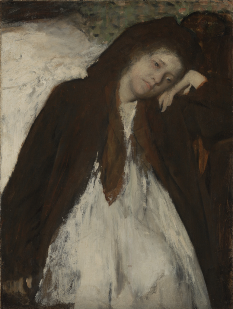 The Convalescent; Edgar Degas (French, 1834 - 1917); about 1872–January 1887; Oil on canvas; 65.7 × 49.8 cm (25 7/8 × 19 5/8 in.); 2002.57; The J. Paul Getty Museum, Los Angeles; Rights Statement: No Copyright - United States