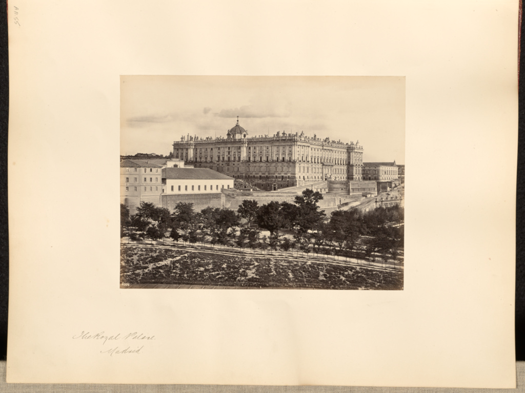 The Royal Palace, Madrid; Francis Frith (English, 1822 - 1898); Madrid, Madrid, Spain; about 1850–1865; Albumen silver print; 15.6 × 20.6 cm (6 1/8 × 8 1/8 in.); 84.XO.1180.55; The J. Paul Getty Museum, Los Angeles; Rights Statement: No Copyright - United States