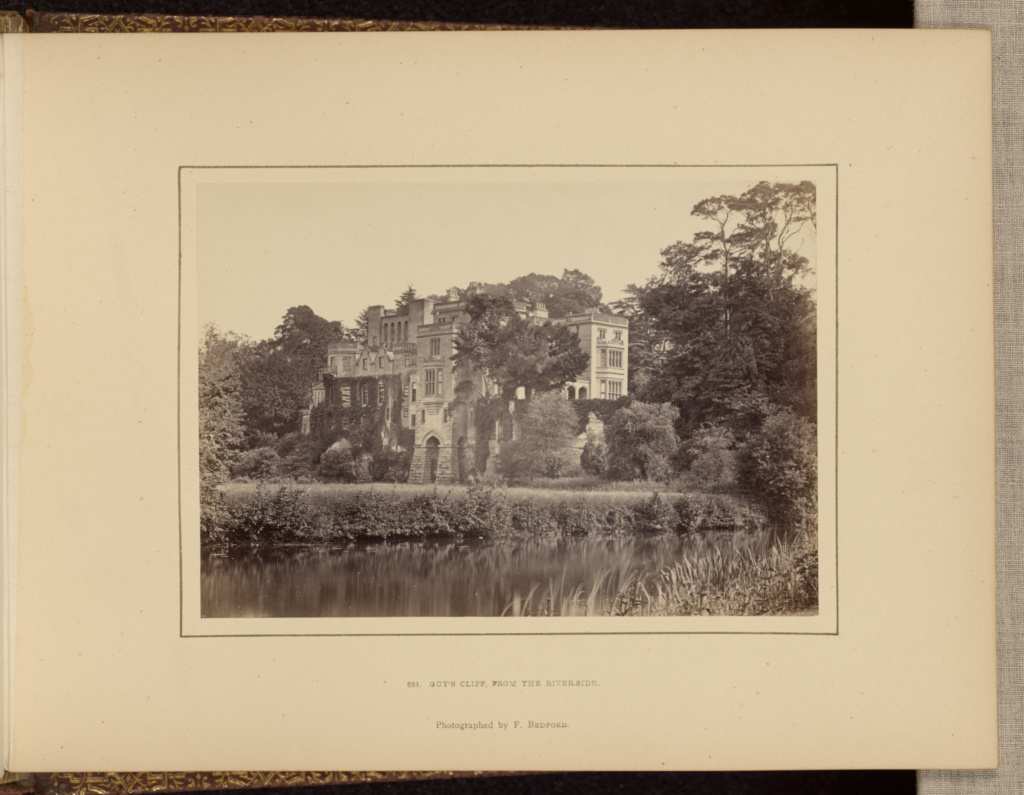 Guy's Cliff, from the riverside; Francis Bedford (English, 1815/1816 - 1894); Chester, England; about 1860 - 1870; Albumen silver print; 10.5 × 15.1 cm (4 1/8 × 5 15/16 in.); 84.XO.1270.13; The J. Paul Getty Museum, Los Angeles; Rights Statement: No Copyright - United States