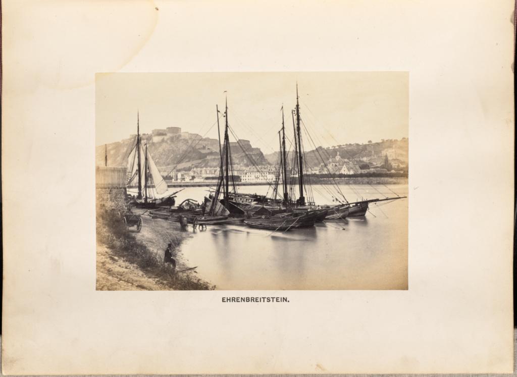 Ehrenbreitstein; Francis Frith (English, 1822 - 1898); 1864; Albumen silver print; 12 × 17 cm (4 3/4 × 6 11/16 in.); 84.XO.1312.6; Rights Statement: No Copyright - United States