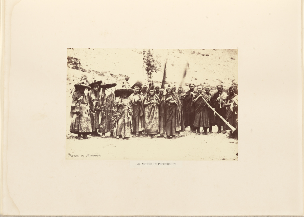 Monks in Procession; Philip Henry Egerton (British, active 1860s); London, England; negative June–August 1863; print 1863–1864; Albumen silver print; 14 × 21.3 cm (5 1/2 × 8 3/8 in.); 84.XB.1337.29; The J. Paul Getty Museum, Los Angeles; Rights Statement: No Copyright - United States