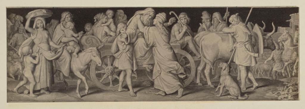 [Seitz, l'Histoire de Saint Joseph d'après le Carton]; Unknown maker; 1859; Albumen silver print; 7.5 × 23 cm (2 15/16 × 9 1/16 in.); 84.XO.251.1.92; Rights Statement: No Copyright - United States