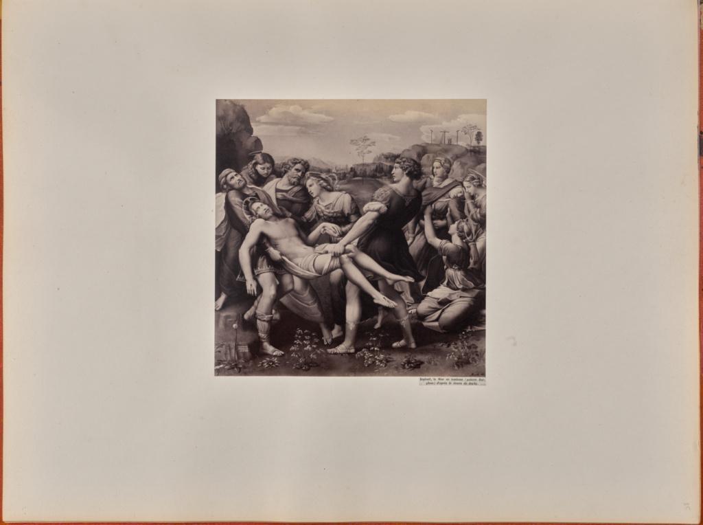 Raphael La Mise Au Tombeau Galerie Borghese D Apres Le Dessin