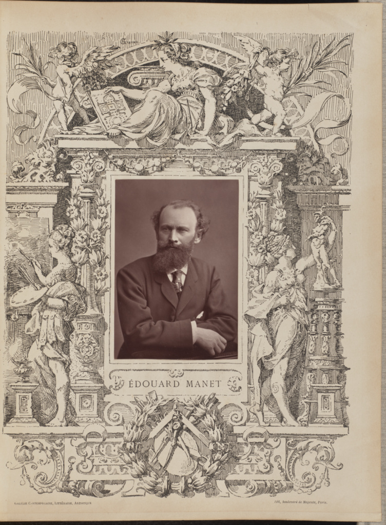 Édouard Manet; Charles Reutlinger (French, born Germany, 1816 - 1888); Paris, France; negative about 1875; print about 1876–1882; Woodburytype; 12 × 8.2 cm (4 3/4 × 3 1/4 in.); 84.XB.300.17; The J. Paul Getty Museum, Los Angeles; Rights Statement: No Copyright - United States