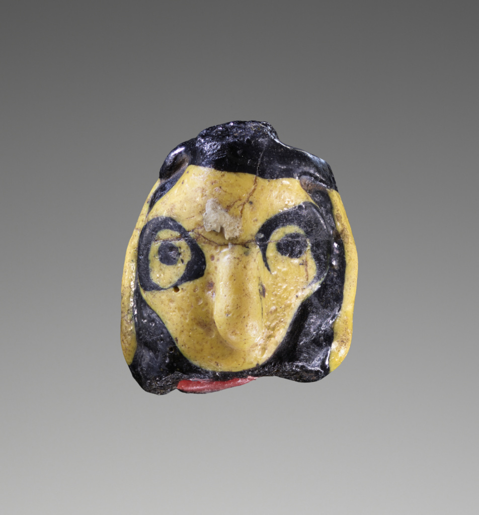 Flamed-worked Face bead; Unknown; 5th–4th century B.C.; Glass; 1.5 cm (9/16 in.); 2004.9; Rights Statement: No Copyright - United States