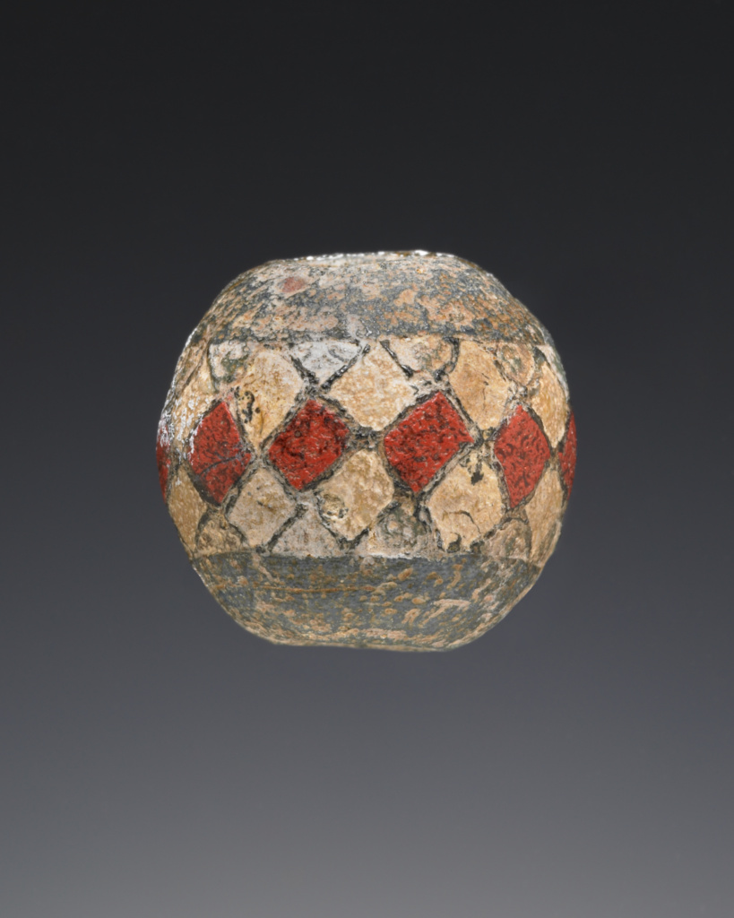 Bead; Unknown; Panticapaeum (Kerch), Crimea; perhaps 9th–10th century; Glass; 2.3 × 2 cm (7/8 × 13/16 in.); 2003.212; The J. Paul Getty Museum, Villa Collection, Malibu, California; Rights Statement: No Copyright - United States
