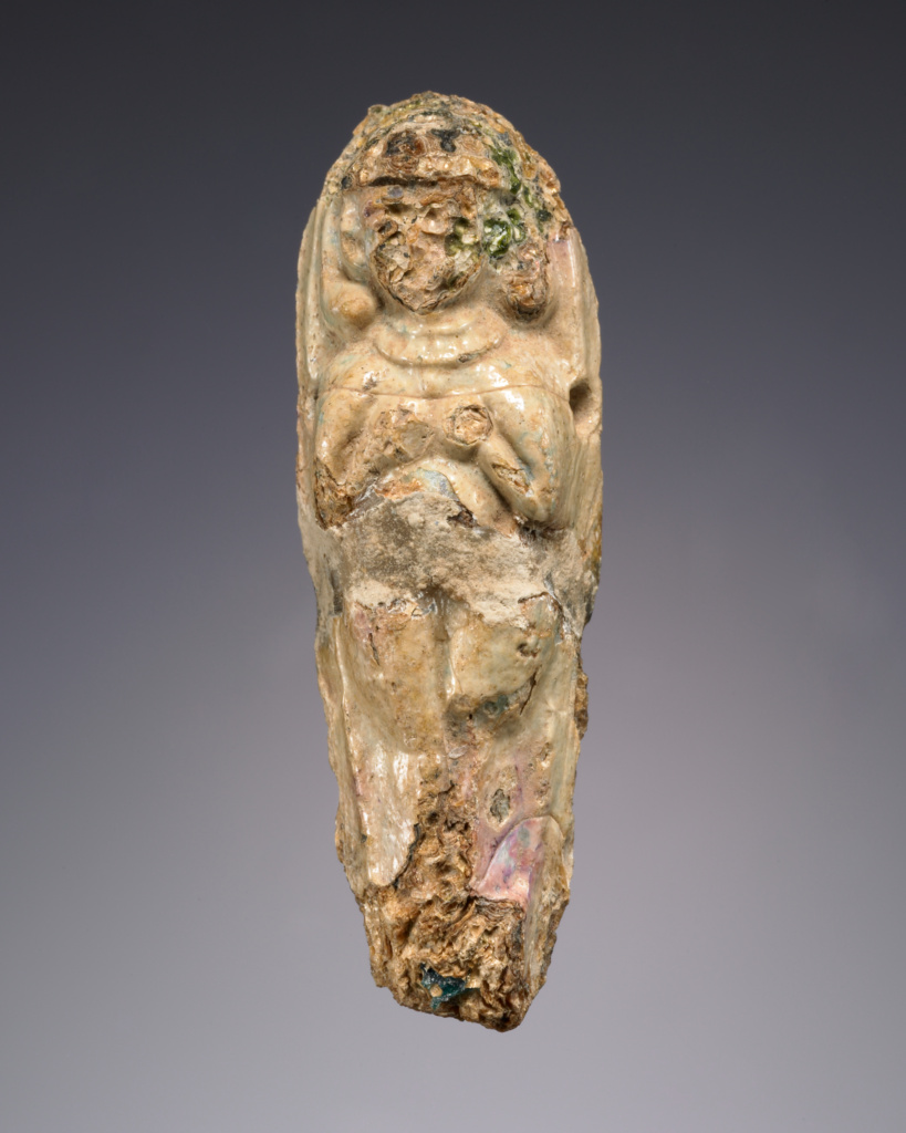 Figure of Astarte; Unknown; perhaps Northern Syria, Syria; mid-2nd millennium B.C.; Glass; 7.2 cm (2 13/16 in.); 2003.213; The J. Paul Getty Museum, Villa Collection, Malibu, California; Rights Statement: No Copyright - United States
