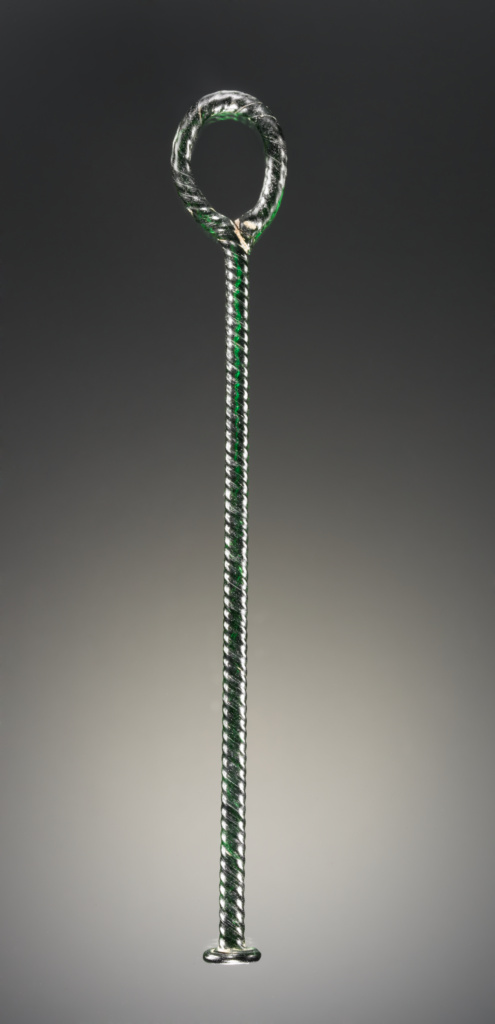 Distaff; Unknown; Eastern Mediterranean; 1st–2nd century A.D.; Glass; 18.5 cm (7 5/16 in.); 2003.403; The J. Paul Getty Museum, Villa Collection, Malibu, California; Rights Statement: No Copyright - United States
