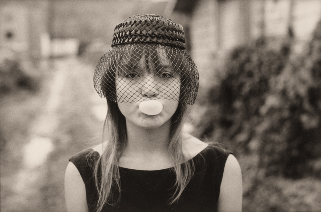 Tiny in Halloween Costume Blowing Bubble, Seattle; Mary Ellen Mark (American, 1940 - 2015); Seattle, Washington, United States; 1983; Gelatin silver print; 22.6 × 34 cm (8 7/8 × 13 3/8 in.); 2004.60.17; The J. Paul Getty Museum, Los Angeles; Rights Statement: In Copyright; Copyright: © Mary Ellen Mark Foundation