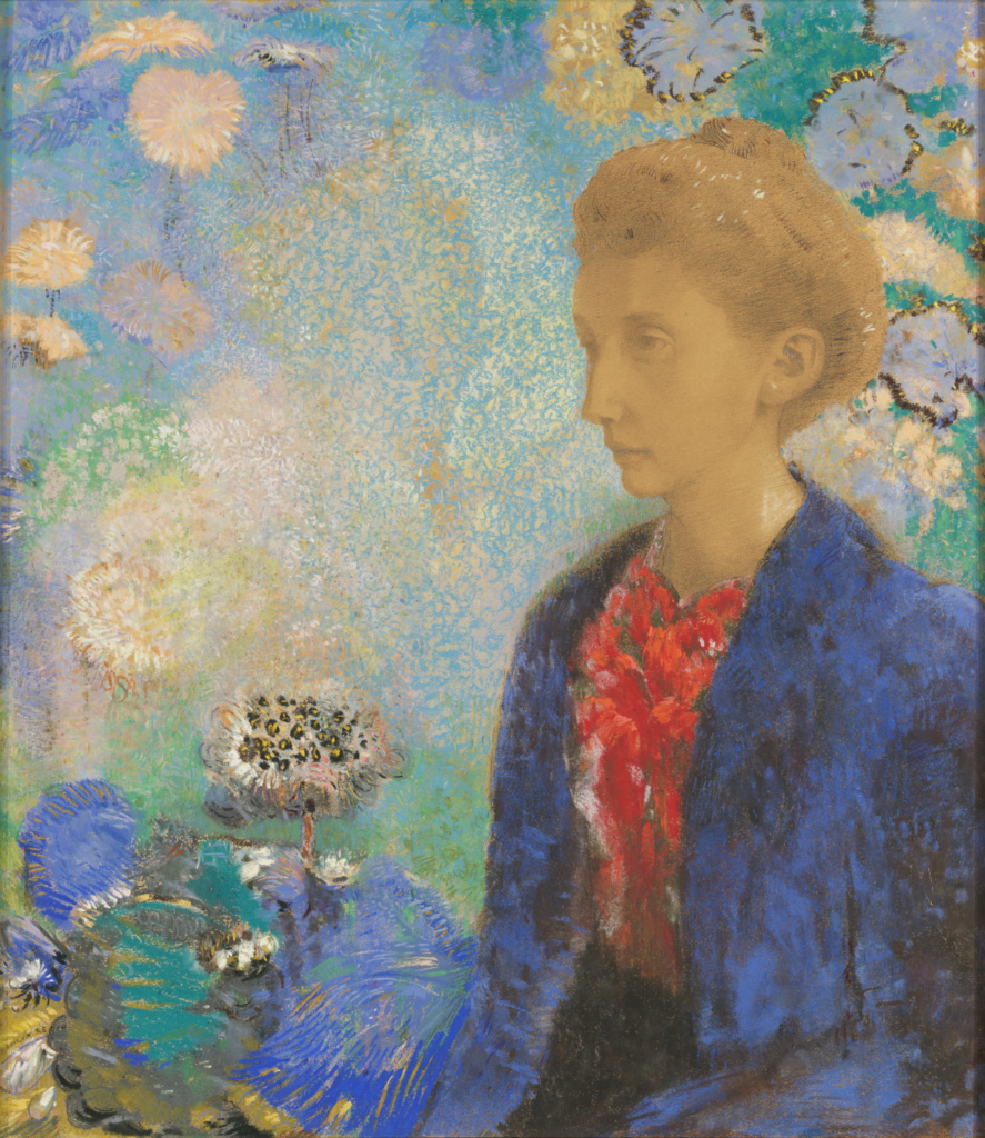 Baronne de Domecy; Odilon Redon (French, 1840 - 1916); about 1900; Pastel and graphite on light brown laid paper; 61 × 42.4 cm (24 × 16 11/16 in.); 2005.1; Rights Statement: No Copyright - United States
