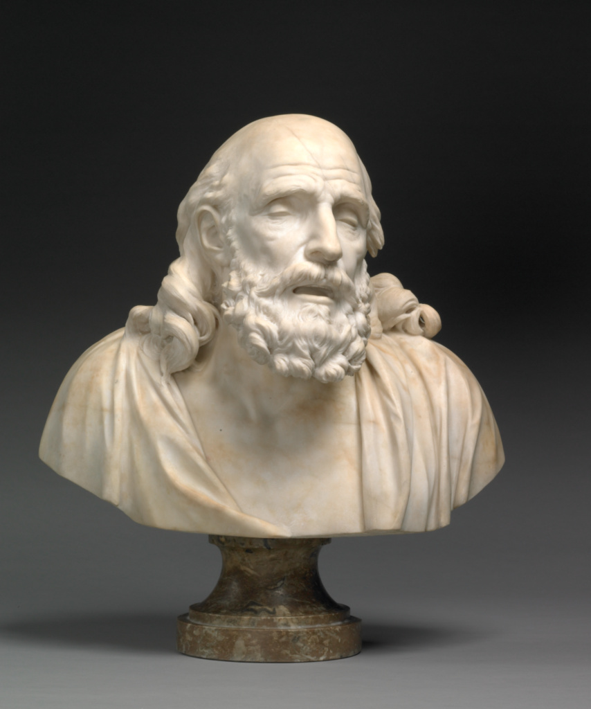 Belisarius; Jean-Baptiste Stouf (French, 1742 - 1826); about 1785–1791; Marble; 60 × 55 × 30 cm, 59.8748 kg (23 5/8 × 21 5/8 × 11 13/16 in., 132 lb.); 2005.19; The J. Paul Getty Museum, Los Angeles; Rights Statement: No Copyright - United States