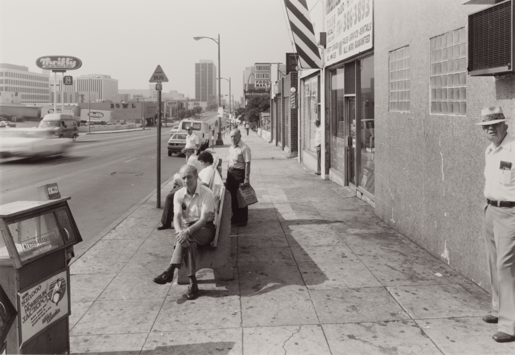 Public Transit Areas #12: Los Angeles; Anthony Hernandez (American, born 1947); Los Angeles, California, United States; 1980; Gelatin silver print; 32.6 × 47.2 cm (12 13/16 × 18 9/16 in.); 2005.35.16; The J. Paul Getty Museum, Los Angeles, Purchased in part with funds provided by the Photographs Council; Rights Statement: In Copyright; Copyright: © Anthony Hernandez