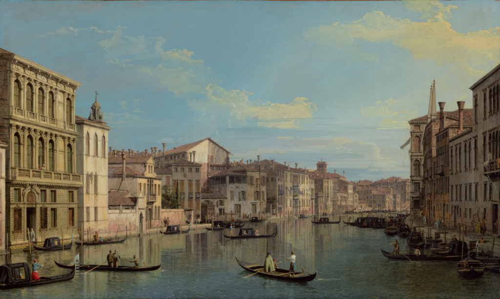 The Grand Canal in Venice from Palazzo Flangini to Campo San Marcuola; Canaletto (Giovanni Antonio Canal) (Italian, 1697 - 1768); about 1738; Oil on canvas; 47 × 77.8 cm (18 1/2 × 30 5/8 in.); 2013.22; Rights Statement: No Copyright - United States