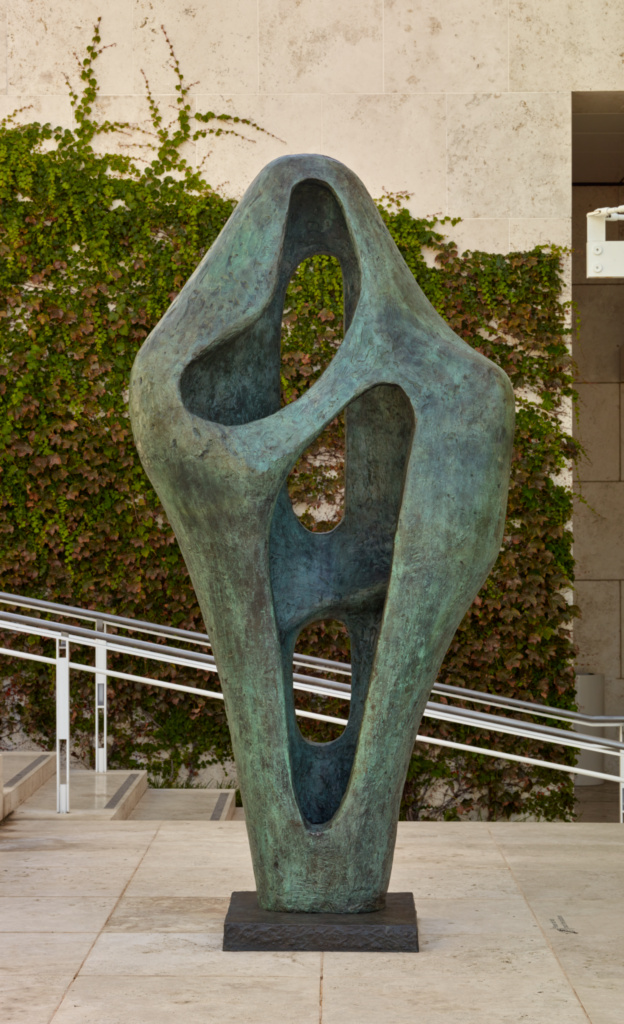 Figure for Landscape; Barbara Hepworth (British, 1903 - 1975); design 1960; cast 1968; Bronze; 271.8 × 132.1 × 71.1 cm, 771.1149 kg (107 × 52 × 28 in., 1700 lb.); 2005.108; The J. Paul Getty Museum, Los Angeles, Gift of Fran and Ray Stark; Rights Statement: In Copyright; Copyright: © Bowness, Hepworth Estate