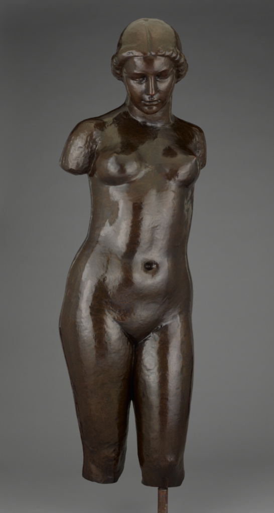 Torse de Dina; Aristide Maillol (French, 1861 - 1944); 1943; Bronze; 123.2 × 41.9 × 34.9 cm, 66.2252 kg (48 1/2 × 16 1/2 × 13 3/4 in., 146 lb.); 2005.113.2; Gift of Fran and Ray Stark; Rights Statement: No Copyright - United States