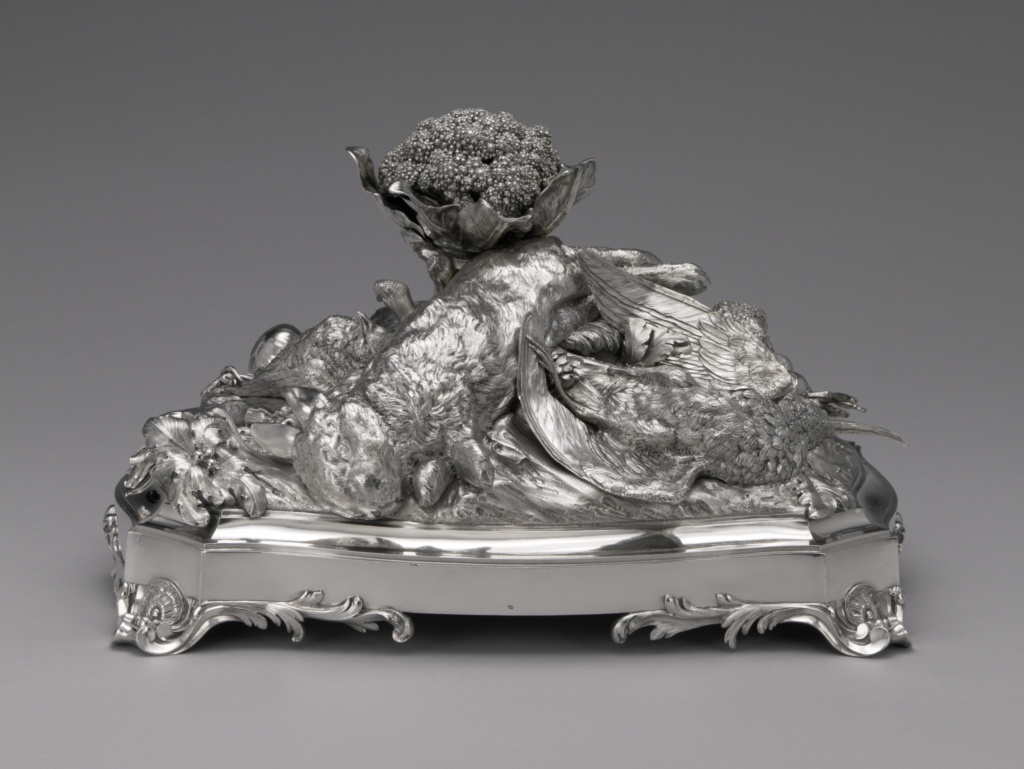 """La Machine d'Argent"" or Centerpiece for a Table (surtout de table); François-Thomas Germain (French, 1726 - 1791); Paris, France; 1754; Silver; 21 × 36.8 × 23.2 cm, 5240 g (8 1/4 × 14 1/2 × 9 1/8 in., 168.4697 ozt.); 2005.43; The J. Paul Getty Museum, Los Angeles; Rights Statement: No Copyright - United States"