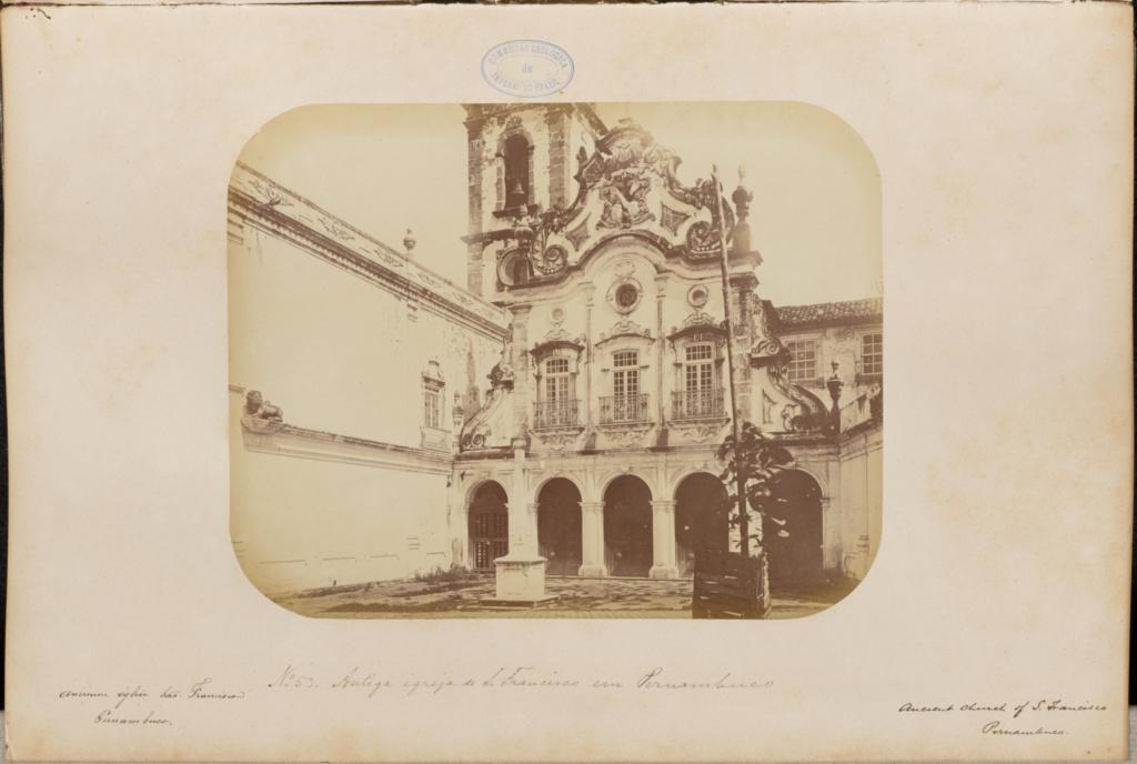 Antiga igreja de São Francisco em Pernambuco; Marc Ferrez (Brazilian, 1843 - 1923); 1875–1876; Albumen silver print; 21 × 26.6 cm (8 1/4 × 10 1/2 in.); 86.XA.749.1.53; Gift of Joseph R. Lasser and Donald I. Reifler; Rights Statement: No Copyright - United States
