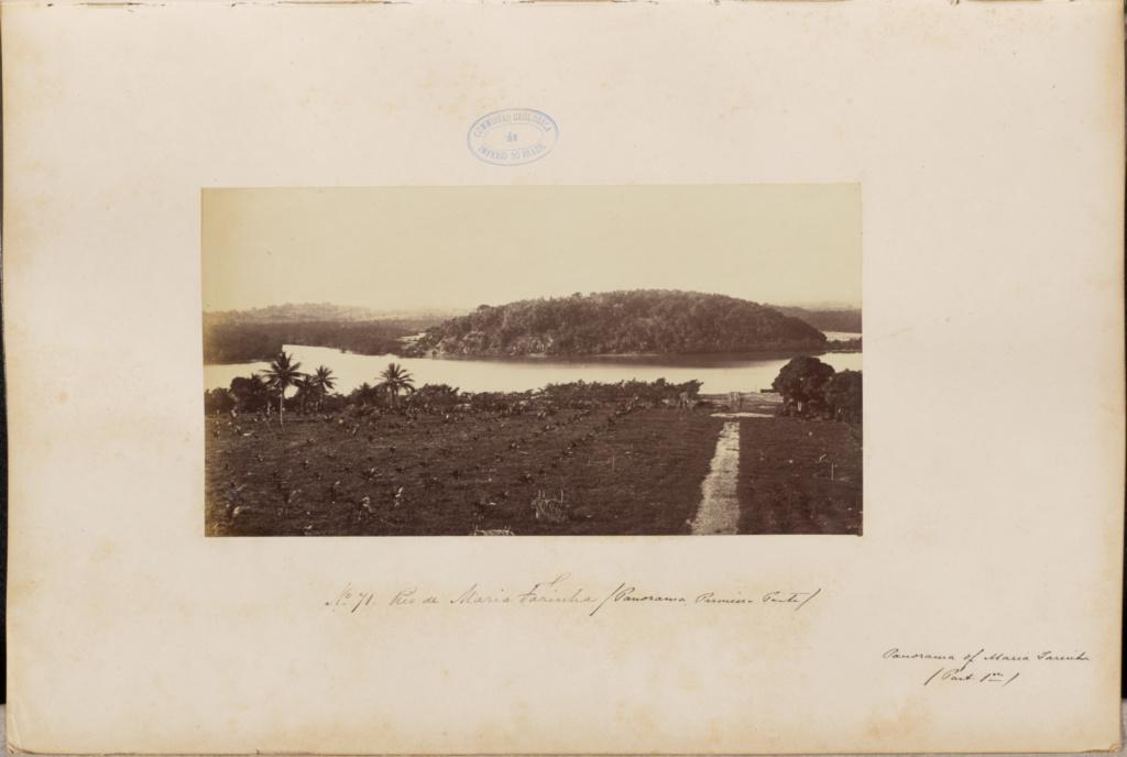 Rio de Maria Farinha / Panorama Pumien Ponte; Marc Ferrez (Brazilian, 1843 - 1923); 1875–1876; Albumen silver print; 14.3 × 27.1 cm (5 5/8 × 10 11/16 in.); 86.XA.749.1.71; Gift of Joseph R. Lasser and Donald I. Reifler; Rights Statement: No Copyright - United States