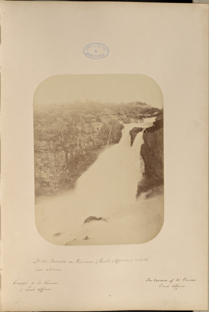 Cascata da Princesa (Paulo Affonso) vista rio abaxio; Marc Ferrez (Brazilian, 1843 - 1923); 1875–1876; Albumen silver print; 25.4 × 19.2 cm (10 × 7 9/16 in.); 86.XA.749.2.51; Gift of Joseph R. Lasser and Donald I. Reifler; Rights Statement: No Copyright - United States