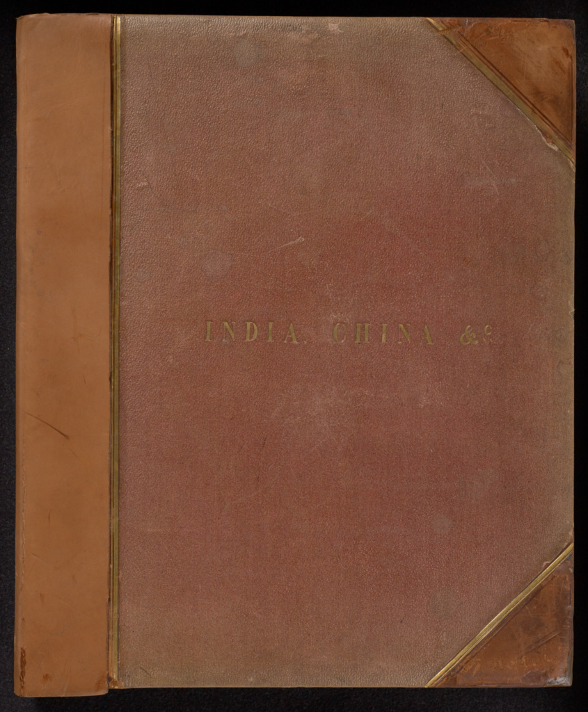 India, China, etc. (cover title); Felice Beato (English, born Italy, 1832 - 1909), John Edward Saché (Prussian or British, born Prussia, 1824 - 1882), Samuel Bourne (English, 1834 - 1912), G.W. Woodcroft (British, active 1860s - 1880s), Dr. John F. Meigs (American, 1818 - 1882), Friderik Meissner (German, active in MIddle East, about 1864 - 1870s), Unknown maker, Hippolyte Arnoux (French, active 1860s - 1880s); India; about 1857–1881; Albumen silver print; Closed: 46.8 × 39 × 6.7 cm (18 7/16 × 15 3/8 × 2 5/8 in.); 2007.26.206; The J. Paul Getty Museum, Los Angeles, Partial gift from the Wilson Centre for Photography; Rights Statement: No Copyright - United States