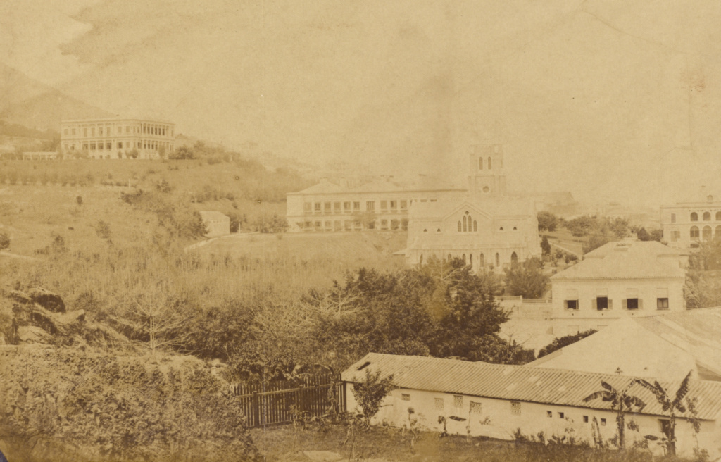 [View of Hong Kong]; Felice Beato (English, born Italy, 1832 - 1909); China; March 1860; Albumen silver print; 18.3 × 28.1 cm (7 3/16 × 11 1/16 in.); 2007.26.209.5; The J. Paul Getty Museum, Los Angeles, Partial gift from the Wilson Centre for Photography; Rights Statement: No Copyright - United States
