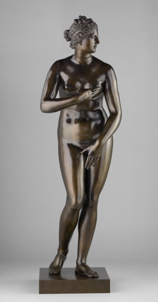 Medici Venus; Pietro Cipriani (Italian, about 1680 - before 1745); Italy; 1722–1724; Bronze; 155.3 cm, 93.8946 kg (61 1/8 in., 207 lb.); 2008.41.1; The J. Paul Getty Museum, Los Angeles; Rights Statement: No Copyright - United States