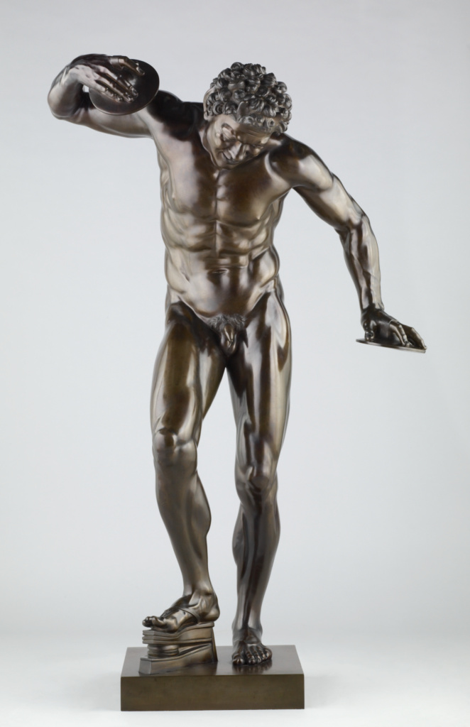 Dancing Faun; Pietro Cipriani (Italian, about 1680 - before 1745); Italy; 1722–1724; Bronze; 143.5 cm (56 1/2 in.); 2008.41.2; The J. Paul Getty Museum, Los Angeles; Rights Statement: No Copyright - United States