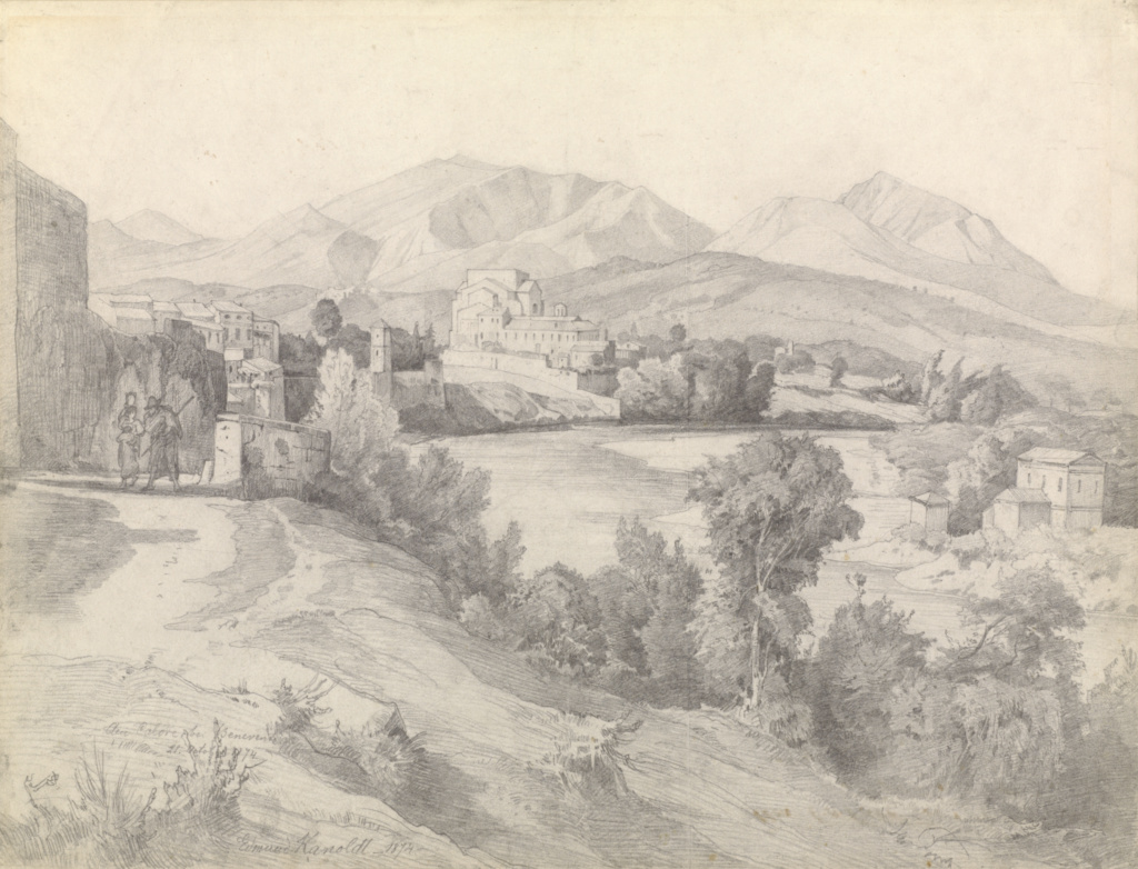 View of Benevento; Edmund Kanoldt (German, 1845 - 1904); Italy; 1874; Graphite; 33 × 43.3 cm (13 × 17 1/16 in.); 2009.63; The J. Paul Getty Museum, Los Angeles; Rights Statement: No Copyright - United States