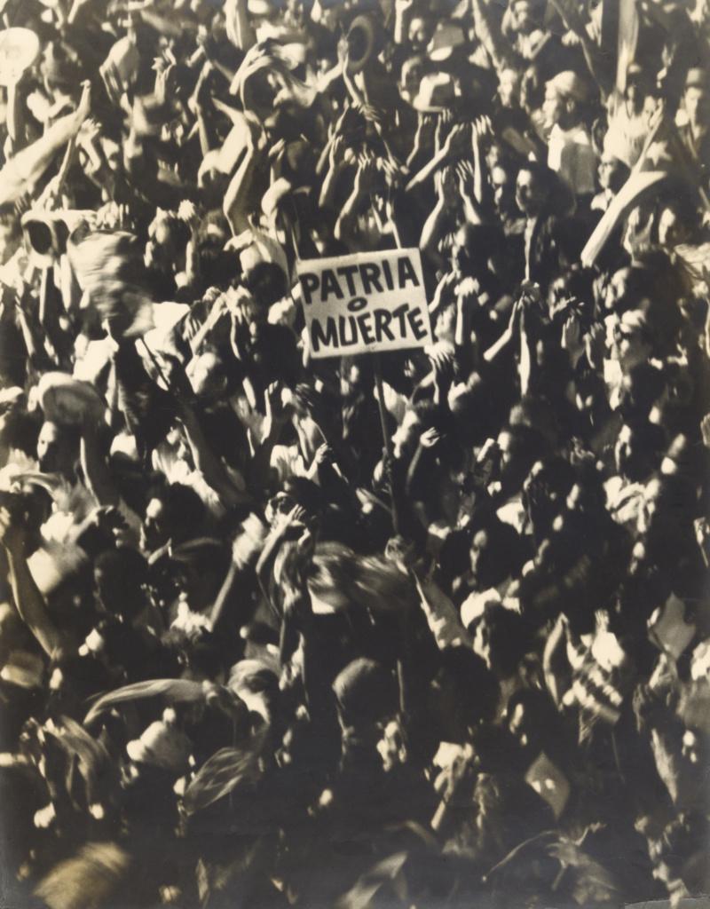 Patria o Muerte, Cuba; Osvaldo Salas (Cuban, 1914 - 1992); Cuba; negative January 1959; print 1984; Gelatin silver print; 57.8 × 45.2 cm (22 3/4 × 17 13/16 in.); 2010.89.3; The J. Paul Getty Museum, Los Angeles; Rights Statement: In Copyright; Copyright: © The Osvaldo and Roberto Salas Estate, Havana, Cuba