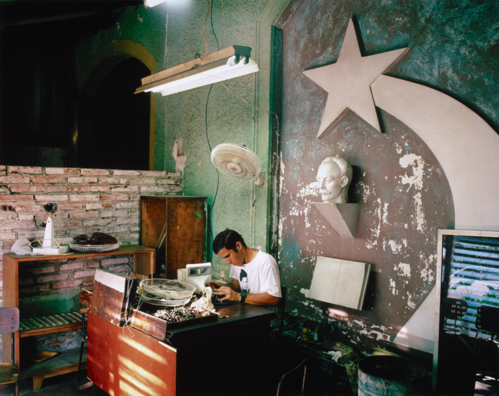 Small Appliance Repair Shop, Calles 19 and 8, Vedado, Havana; Alex Harris (American, born 1949); United States; negative October 12, 2002; print September 2010; Chromogenic print; 2010.82.3; The J. Paul Getty Museum, Los Angeles; Rights Statement: In Copyright; Copyright: © Alex Harris