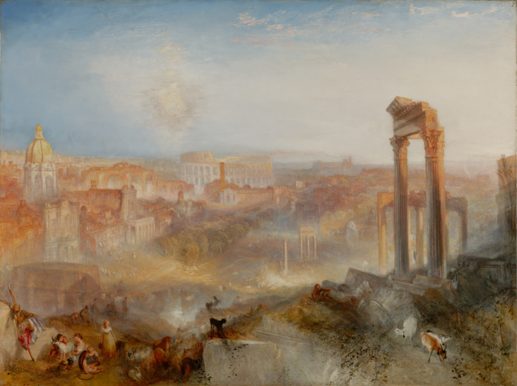 Modern Rome - Campo Vaccino; Joseph Mallord William Turner (British, 1775 - 1851); 1839; Oil on canvas; 91.8 × 122.6 cm (36 1/8 × 48 1/4 in.); 2011.6; Rights Statement: No Copyright - United States