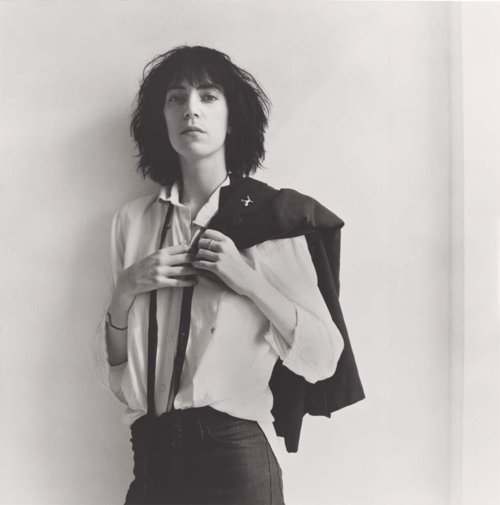 Patti Smith; Robert Mapplethorpe (American, 1946 - 1989); New York, New York, United States; negative 1975; print 1995; Gelatin silver print; 35.8 × 35.5 cm (14 1/8 × 14 in.); 2011.7.1; Jointly acquired by the J. Paul Getty Trust and the Los Angeles County Museum of Art, with funds provided by the J. Paul Getty Trust and the David Geffen Foundation; Rights Statement: In Copyright; Copyright: © Robert Mapplethorpe Foundation