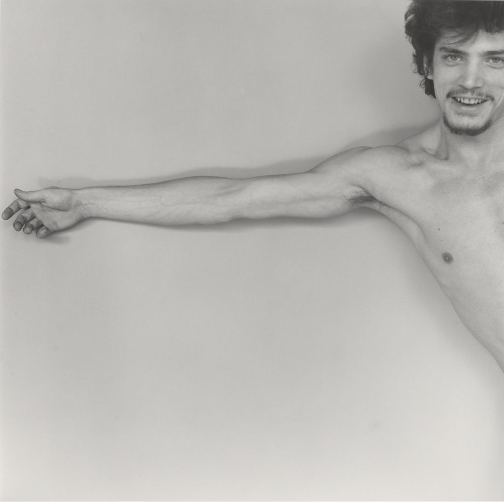 Self-Portrait; Robert Mapplethorpe (American, 1946 - 1989); New York, New York, United States; 1975; Gelatin silver print; 35.4 × 35.7 cm (13 15/16 × 14 1/16 in.); 2011.7.2; Jointly acquired by the J. Paul Getty Trust and the Los Angeles County Museum of Art, with funds provided by the J. Paul Getty Trust and the David Geffen Foundation; Rights Statement: In Copyright; Copyright: © Robert Mapplethorpe Foundation