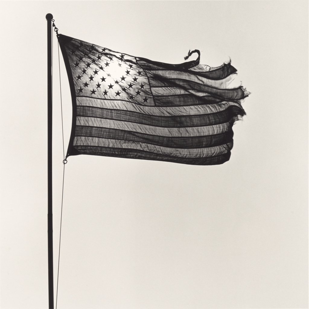 American Flag; Robert Mapplethorpe (American, 1946 - 1989); New York, New York, United States; 1977; Gelatin silver print; 35.3 × 35.3 cm (13 7/8 × 13 7/8 in.); 2011.7.6; Jointly acquired by the J. Paul Getty Trust and the Los Angeles County Museum of Art, with funds provided by the J. Paul Getty Trust and the David Geffen Foundation; Rights Statement: In Copyright; Copyright: © Robert Mapplethorpe Foundation