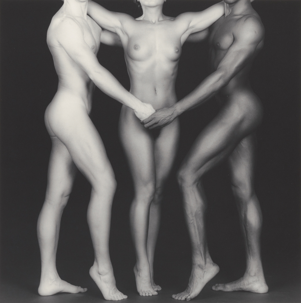 Ken and Lydia and Tyler; Robert Mapplethorpe (American, 1946 - 1989); New York, New York, United States; negative 1985; print 2004; Gelatin silver print; 38.4 × 38.2 cm (15 1/8 × 15 1/16 in.); 2011.7.19; Jointly acquired by the J. Paul Getty Trust and the Los Angeles County Museum of Art, with funds provided by the J. Paul Getty Trust and the David Geffen Foundation; Rights Statement: In Copyright; Copyright: © Robert Mapplethorpe Foundation