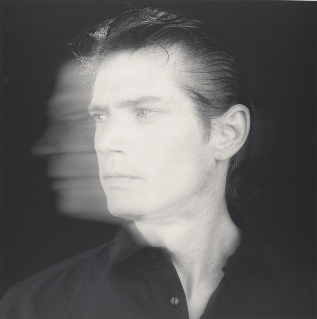 Self-Portrait; Robert Mapplethorpe (American, 1946 - 1989); New York, New York, United States; 1985; Gelatin silver print; 38.7 × 38.6 cm (15 1/4 × 15 3/16 in.); 2011.7.21; Jointly acquired by the J. Paul Getty Trust and the Los Angeles County Museum of Art, with funds provided by the J. Paul Getty Trust and the David Geffen Foundation; Rights Statement: In Copyright; Copyright: © Robert Mapplethorpe Foundation
