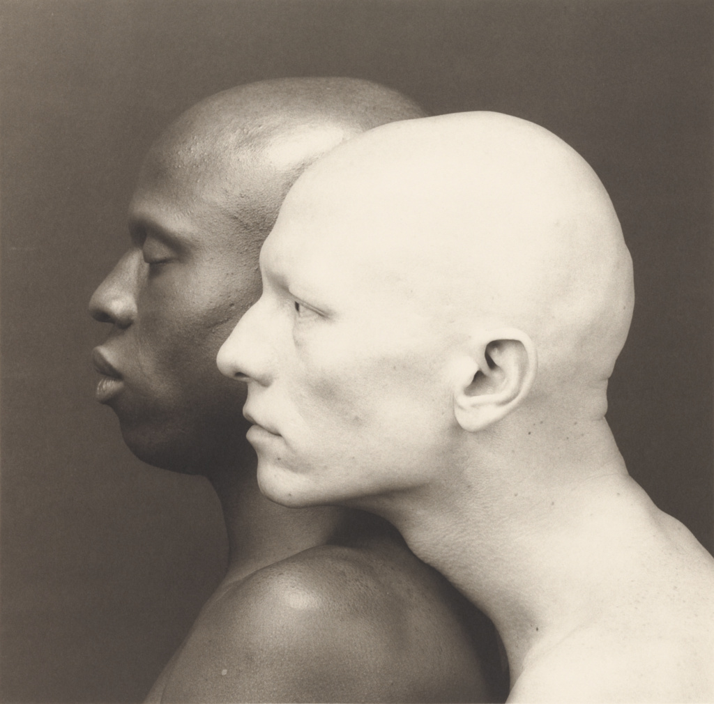 Ken Moody and Robert Sherman; Robert Mapplethorpe (American, 1946 - 1989); New York, New York, United States; 1984; Platinum print; 49.4 × 50.2 cm (19 7/16 × 19 3/4 in.); 2011.7.23; Jointly acquired by the J. Paul Getty Trust and the Los Angeles County Museum of Art, with funds provided by the J. Paul Getty Trust and the David Geffen Foundation; Rights Statement: In Copyright; Copyright: © Robert Mapplethorpe Foundation
