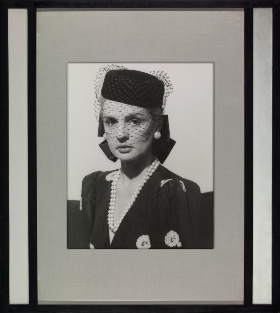 Carolina Herrera; Robert Mapplethorpe (American, 1946 - 1989); New York, New York, United States; 1979; Gelatin silver print with mirrored frame; 44.6 × 35 cm (17 9/16 × 13 3/4 in.); 2011.9.20; Jointly acquired by the J. Paul Getty Trust and the Los Angeles County Museum of Art; partial gift of The Robert Mapplethorpe Foundation; partial purchase with funds provided by the J. Paul Getty Trust and the David Geffen Foundation; Rights Statement: In Copyright; Copyright: © Robert Mapplethorpe Foundation