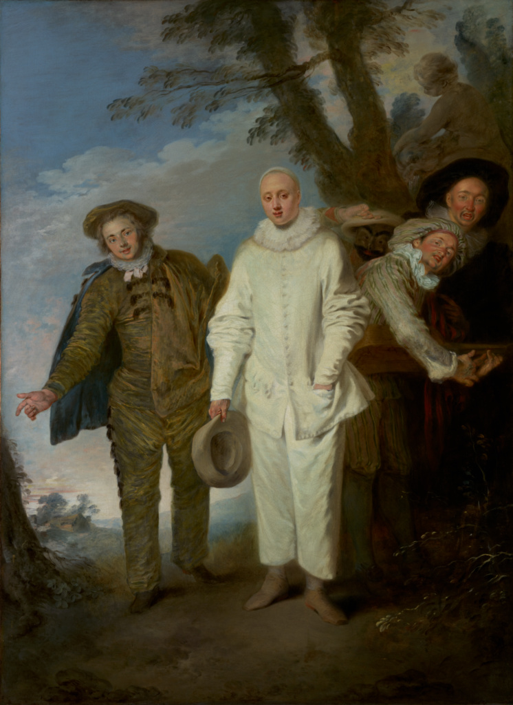 The Italian Comedians; Jean-Antoine Watteau (French, 1684 - 1721); about 1720; Oil on canvas; 128.9 × 93.3 cm (50 3/4 × 36 3/4 in.); 2012.5; Rights Statement: No Copyright - United States