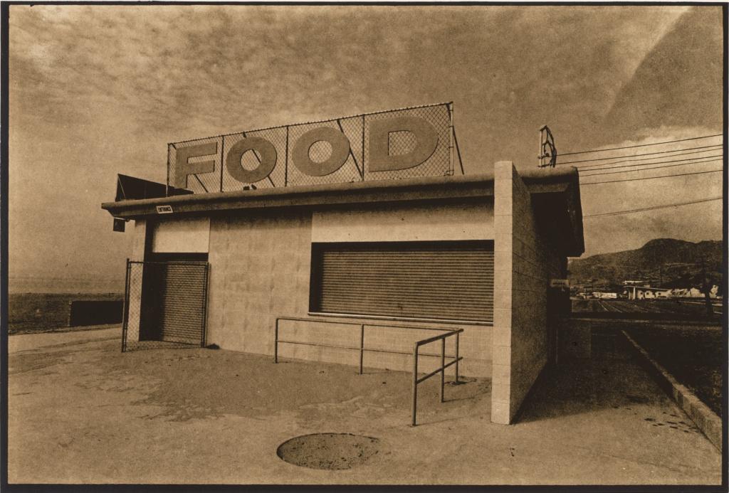FOOD; Paul L. Baron (American, born 1946); Zuma Beach, Malibu, California, United States; 1971; Gelatin silver print on Kodalith paper; 9.5 × 14 cm (3 3/4 × 5 1/2 in.); 2012.78; The J. Paul Getty Museum, Los Angeles, Gift of the Artist; Rights Statement: In Copyright; Copyright: © Paul L. Baron