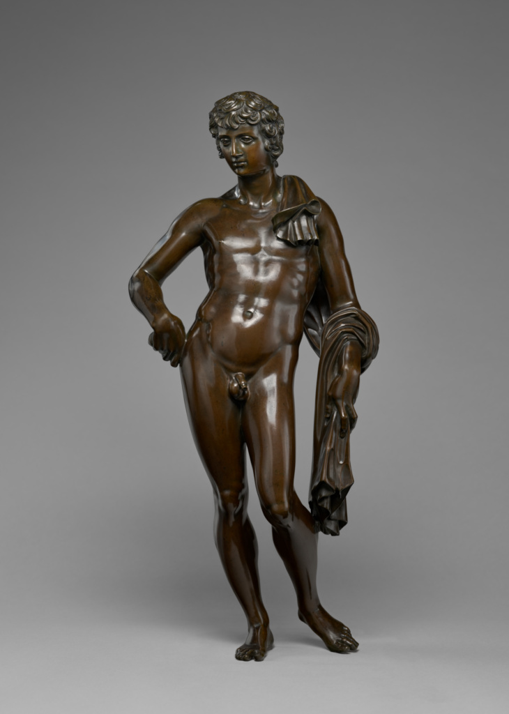 Belvedere Antinous; Attributed to Pietro Tacca (Italian, 1577 - 1640); about 1630; Bronze; 64.6 × 28.4 × 20.3 cm, 9.9791 kg (25 7/16 × 11 3/16 × 8 in., 22 lb.); 2014.40; Rights Statement: No Copyright - United States