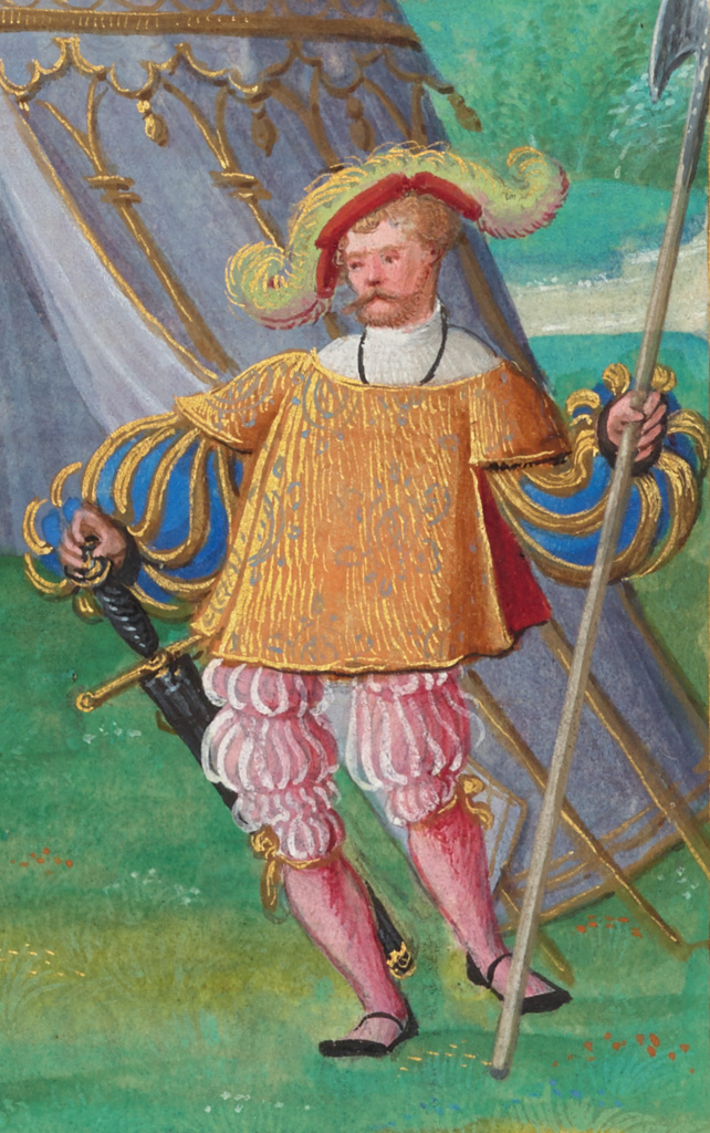 Livre des faits de Jacques de Lalaing; Simon Bening (Flemish, about 1483 - 1561), Master of the Getty Lalaing (Flemish, active about 1530); Belgium; about 1530; Tempera colors and gold; Closed: 36.4 × 26.2 cm (14 5/16 × 10 5/16 in.); Ms. 114 (2016.7); The J. Paul Getty Museum, Los Angeles, Acquired in honor of Thomas Kren, Ms. 114; Rights Statement: No Copyright - United States